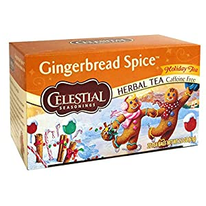 Well-Being-Matters 51JpxKyDn%2BL._SS300_ Celestial Seasonings Holiday Herbal Tea, Gingerbread Spice, 20 Count