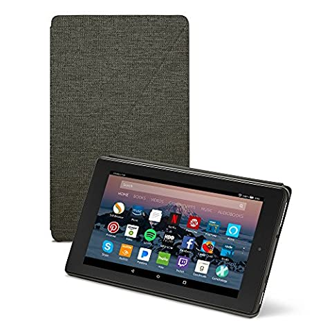 All-New Amazon Fire HD 8 Tablet Case (7th Generation, 2017 Release), Charcoal Black (Electronics)