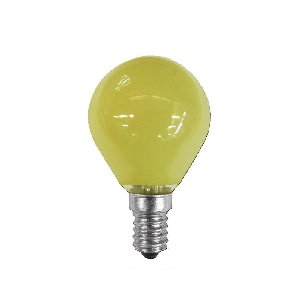 clar-leuci – Glühlampe Esferica, gelb, 25W, 230V, E-14 11426