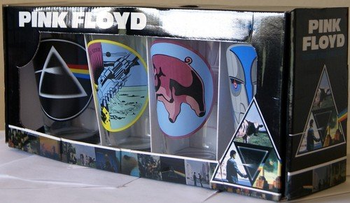 Pink Floyd Collector's Series Pint Glass Set (Set of 4 Pub Glasses) by Unknown