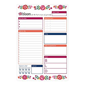 "bloom daily planners 6 x 9 Planning Pads (6"" x 9"" Planning System Pad - Vintage Floral)"
