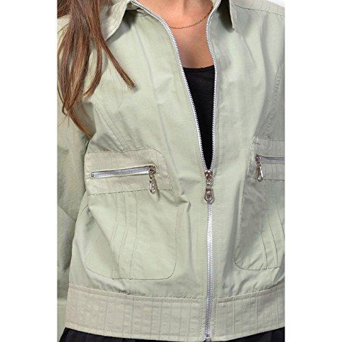 Cazadora para mujer tela-Camiseta talla M, diseño temporada final de colección Verde