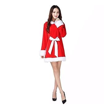 SDLRYF Disfraz De Papá Noel Traje De Navidad Niña Adulta ...