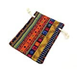 12pc Egyptian Style Jewelry Coin Pouch Print