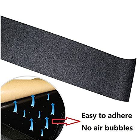 YUT Skateboard Griptape Sheets for Skateboarding Enthusiasts Navy Blue Seawater Non-Slip Special Sandpaper Bubble Free Longboard Scooter Rollerboard Stairs Pedal 33.1x9.1