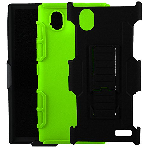 ZTE Warp Elite Case (N9518) Guardian Holster Combo Case with Belt Clip and Kickstand - Green by ElBolt TM with Free HD Screen Protector Photo #6