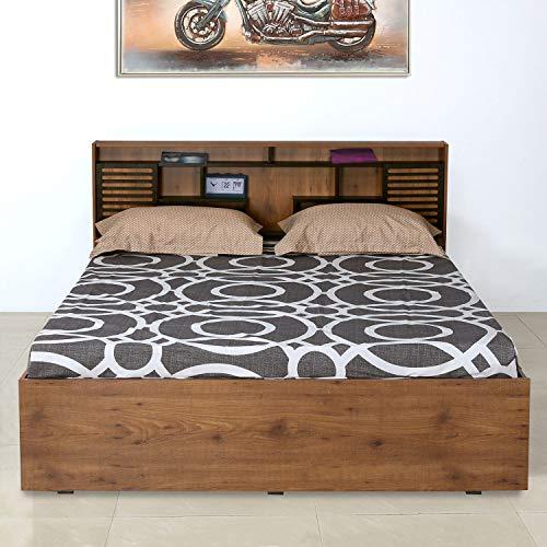 Nilkamal Czar 2 King Bed, Wenge/Knotwood