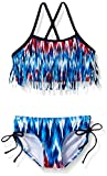 Kanu Surf Baby Girls' Kelly Fringe Bikini Swim Suit, Red/White/Blue, 24 Months