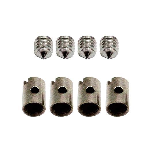 Godyluck 8 piezas sin soldadura de cable pezones 5 mm ...