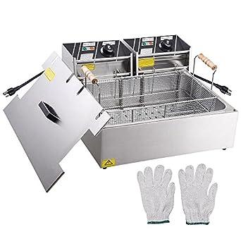 Amazon.com: Yescom 5000W 20L encimera eléctrica de acero ...
