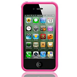 Pink 3-Piece Snap On Hard Case Cover For AT&T Verizon Sprint Apple iPhone 4 4S