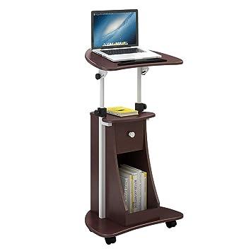 Folding table LVZAIXI Montado en la Pared Desplazamiento de Altura Ajustable Soporte móvil Carro de Escritorio del Ordenador portátil con la Oficina de ...