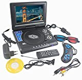 DVD Player Portable 9.8 3D EVD with USB Playback TFT Swivel Flip Screen Game + MP3 + Card Reader Support + 3D Support -- THEBOX