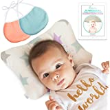 Newborn Baby Head Shaping Pillow - Washable, Neck Support...