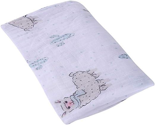 Manta de muselina JYCRA para bebé, de algodón orgánico y transpirable, para niños y niñas, 120 x 120 cm, algodón, Alpaca, 120 x 120 cm: Amazon.es: Hogar