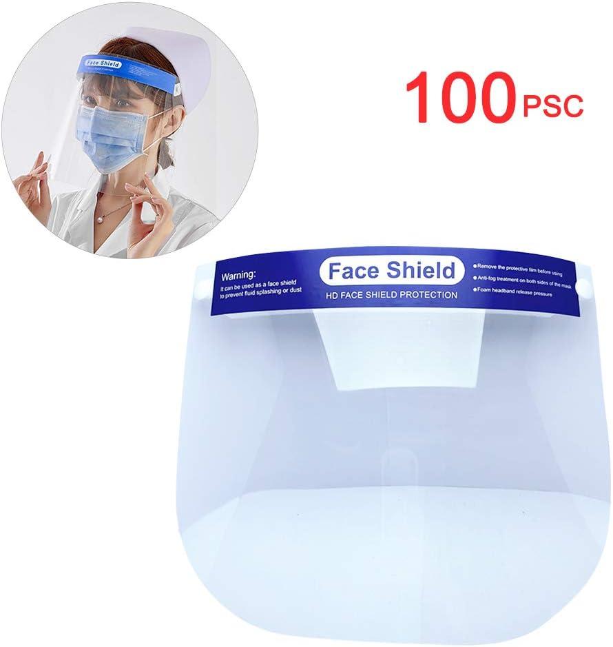 AIEOE 6 Pezzi Visiera Protettiva Scudo Visiera Sicurezza Anti-Saliva Anti-Polvere e Anti-Goccia Visiere per Uomo Donna