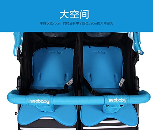 luxury baby stroller for twins,360 baby stroller,landscape baby trolley ,twins stroller,baby strollers double by vory (Image #1)