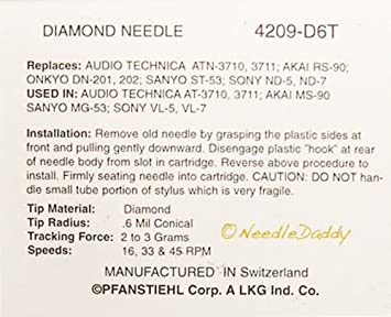TURNTABLE NEEDLE for Sony PS-LX2 PS-LX3 PS-LX4 PS-LX5 PS-LX7 PS ...