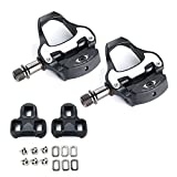 KOBWA SPD Cleats Pedals, Bike Clipless Pedals, Clipless Pedals and Cleats Set, SPD SL cleats for 6 Degree Float SPD Cleats Adapter