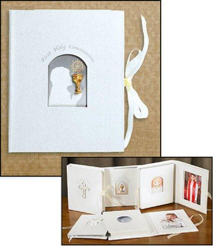 Girl First Holy Communion Girl with Chalice Keepsake Sacramental Photo Album Gift Set (RS088)