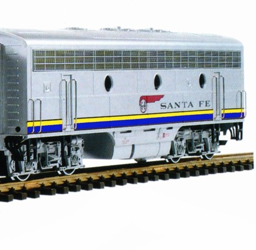 LGB F7B Unit Sound ATSF EMD Non-Powered Diesel Passenger Warbonnet Scheme G Scale Car
