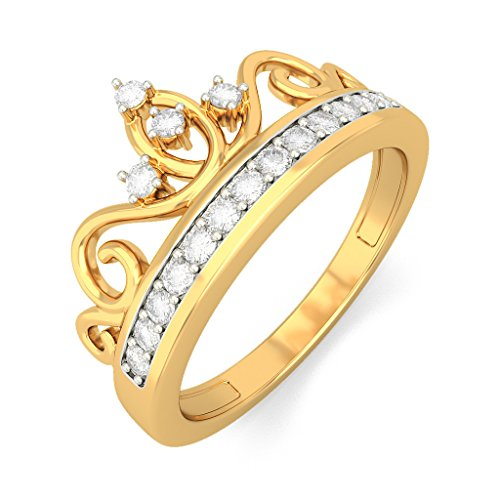 Or jaune 18K, 0,14carat Diamant Blanc (IJ | SI) en diamant