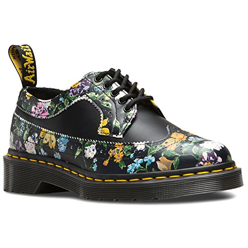 Dr. Martens Wingtip Shoe Black Darcy Floral 22729001, Botas Noir