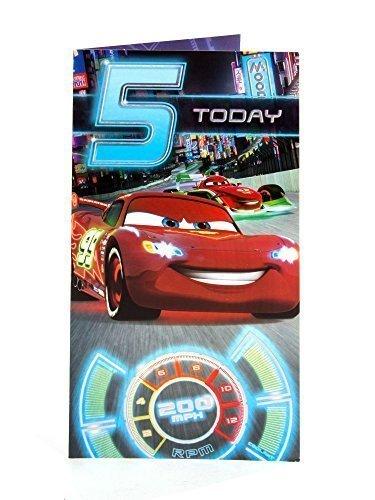 Amazon.com: Disney Cars – 5 años de edad tarjeta de ...