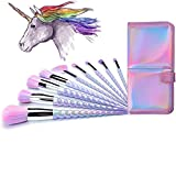 Beauty : Ammiy Unicorn Makeup Brushes Set Fantasy Makeup Tools Foundation Eyeshadow Unicorn Brushes Kit With a Cute Carrying Case (10Pcs, USA Based Fast Shipping It Will Take 3-5 Working Days To Get delivered)