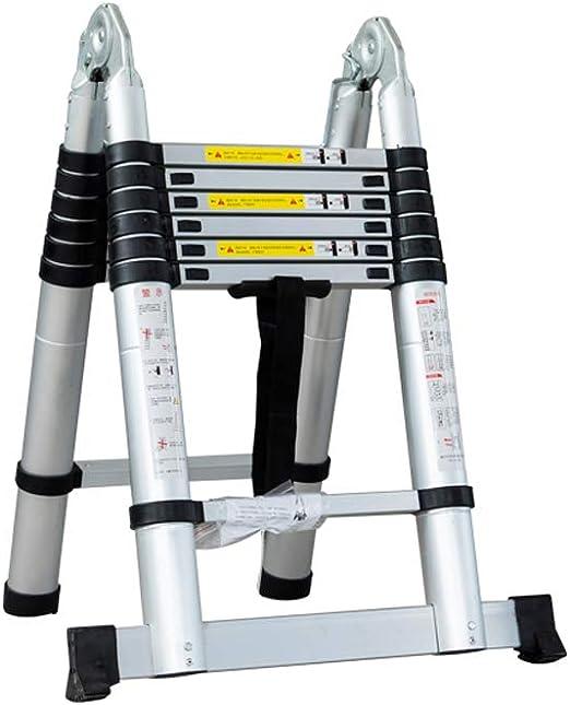 MC-BLL-ladder Escalera telescópica Multifuncional Escalera de Palabra del hogar Escalera Plegable Escalera de Aluminio Gruesa elevadores portátiles Proyecto de Escalera: Amazon.es: Hogar