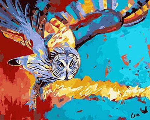 大人のための数字によるDIYペイント子供による数字によるペイントDIY絵画数字によるアクリルペイント絵画キット家の壁のリビングルームベッドルームの装飾児童学校#00522
