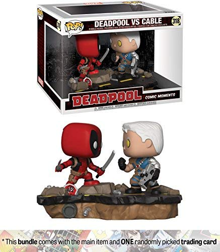 Funko Deadpool vs Cable: Deadpool x POP! Comic Moments Vinyl Figure + 1 Official Marvel Trading Card Bundle [30972]