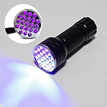 21 LED Ultra Violet Urine Stain Detector Blacklight UV Flashlight to Find Stains on Carpet, Rugs or Furniture Material