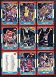 1986 Fleer Basketball Part Set Lot 71 Diff w Worthy 361405 Kit Young Cards