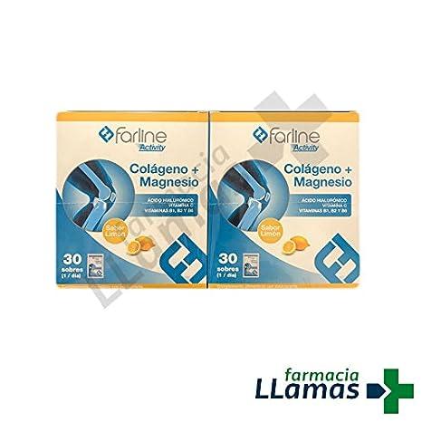 Farline COLAGENO + MAGNESIO SABOR LIMON 30 SOBRES DUPLO: Amazon.es: Salud y cuidado personal