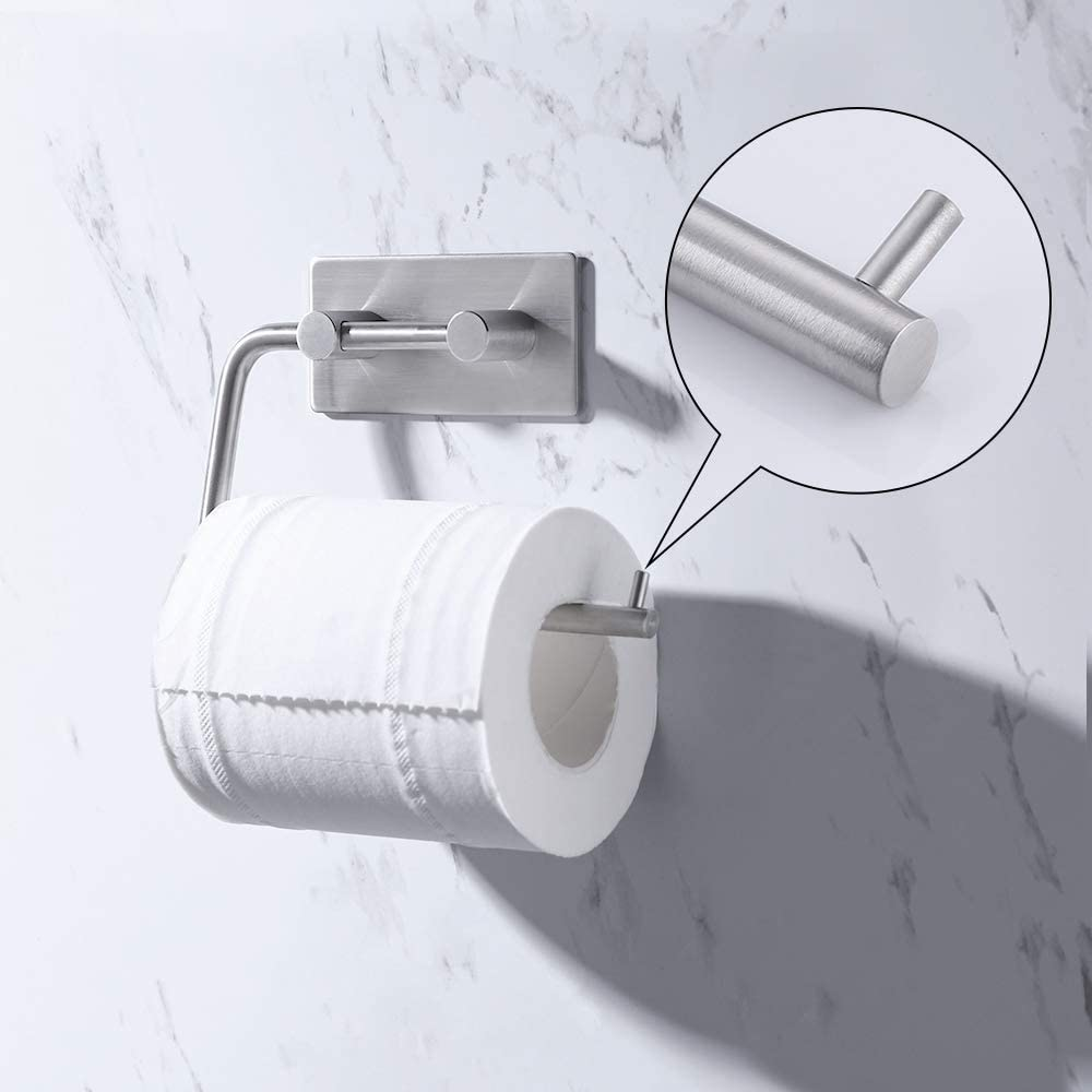 KES Self Adhesive Toilet Paper Holder Stainless Steel Tissue Paper Roll Towel Holder RUSTPROOF Brushed Finish, A7070-2 - -