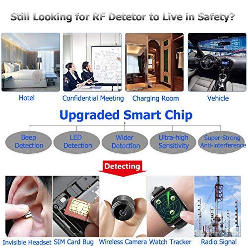 Anti Spy Camera Detector, RF Signal Bug Detector, AHNR Wireless Signal Pinhole Laser Lens GSM Detector Ultra-high Sensitivity Full-Range Tracker Finder