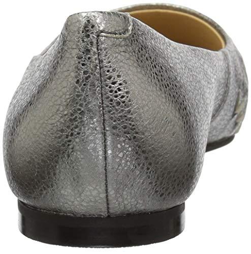 Estee Women's Trotters Silver Flat Woven Ballet Azw7q