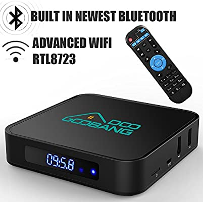 TV Box Android 2 GB RAM 16 GB ROM, goobang Doo X2 Smart Box bajo Amlogic 64 bits Quad Core, Soporte Real 4 K * 2 K @ 60 Hz, WiFi 2.4 GHz, Bluetooth 4.0: Amazon.es: Electrónica