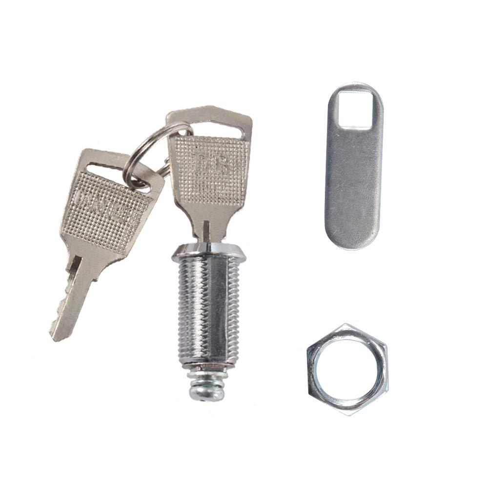 YChoice365 Buz/ón puerta del caj/ón del armario Locker cerradura de la leva para la puerta del gabinete de seguridad del cilindro con 2 llaves Herramientas de Seguridad en el hogar 1pcs