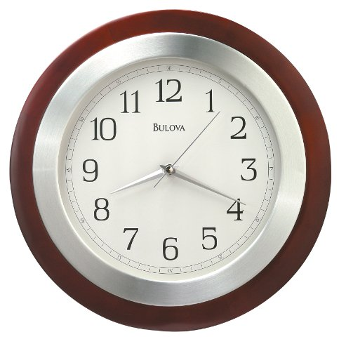 Bavarian Walnut - Bulova C4228 Reedham Clock, Walnut Finish