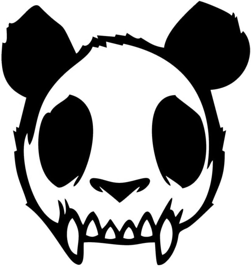 Zombie Panda JDM Vinyl Decal Sticker | Cars Trucks Vans Walls Laptops Cups | Black | 5.5 inches | KCD1323