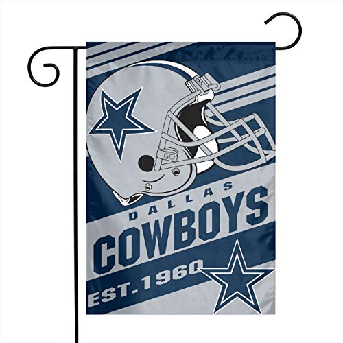 Dalean Dallas Cowboys Double-Sided Printed Garden Flag Weatherproof for Party Yard and Home Outdoor Decor - 12x18 - Printed Cowboy