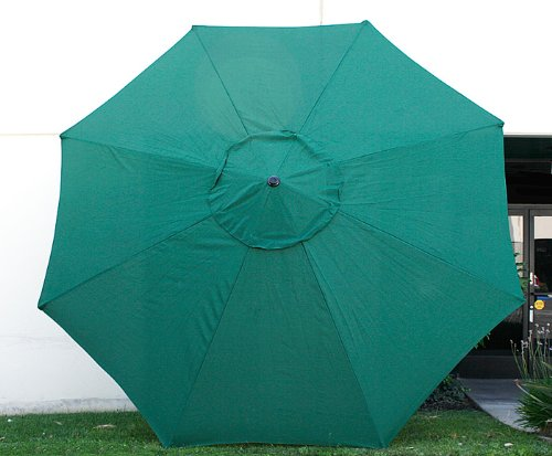 New 9' FT Market Patio Garden Umbrella Replacement Canopy Canvas Cover Green by Cielo - Blue