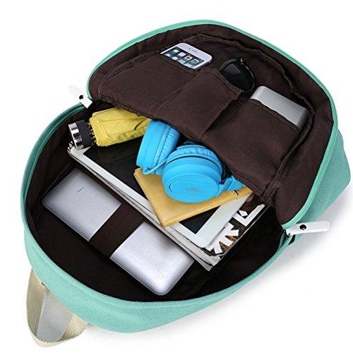 Inwagui Damen Mädchen Canvas Rucksack Kinderrucksack Reisetasche Casual Daypacks Schultaschen Schulrucksäcke Mit Laptop Fach - Rosa