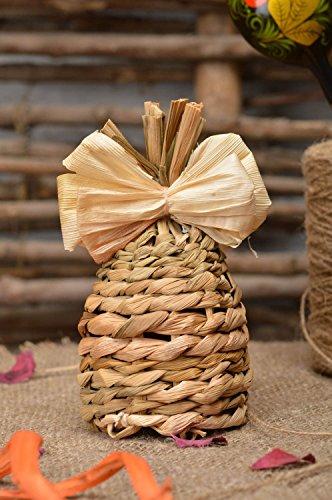 Handmade Stylish Designer Cute Interior Pendant Woven of Corn Leaves Bell ()