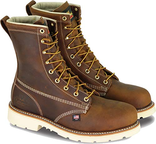 Thorogood Men's American Heritage 8 Inch Safety Toe Work Boot, Brown, 8 2E US