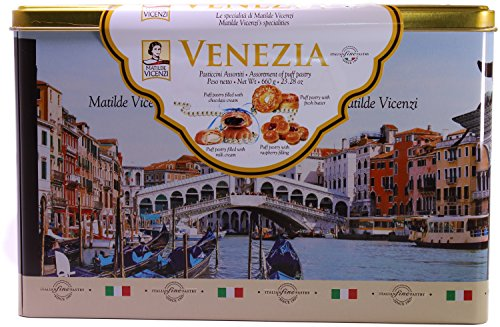 Matilde Vicenzi - MILLEFOGLIE D'ITALIA - Authentic Italian Pasticcini - Fine Assorted Pastry Cookies with Soft Filled Centers, Imported From Italy – Beautiful Re-usable Tin – 660 grams/23.28 oz (Pastry Gifts)