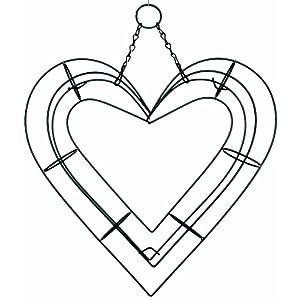 "9"" Heart Shape Living Wreath Wire Form 15"