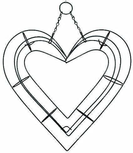 Amazon Com 13 Heart Shape Living Wreath Wire Form Heart Shaped